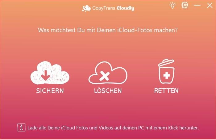 Screenshot 1 - CopyTrans Cloudly