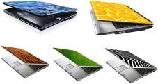 Toshiba: Notebooks mit Schmuckfolien bekleben Knapp 190 verschiedene Motive stehen zur Auswahl.