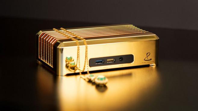 Luxus-Hardware: Dieser Rechner kostet eine Million US-Dollar Für dieses Goldstück von einem PC verlangt Prime Computer satte 1.000.000 US-Dollar.©Prime Computer, Arabian Business