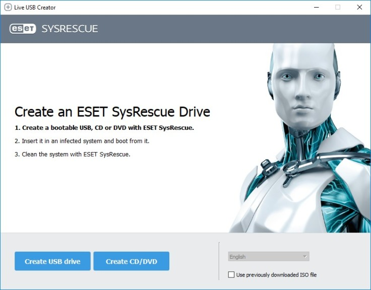 Screenshot 1 - ESET SysRescue Live