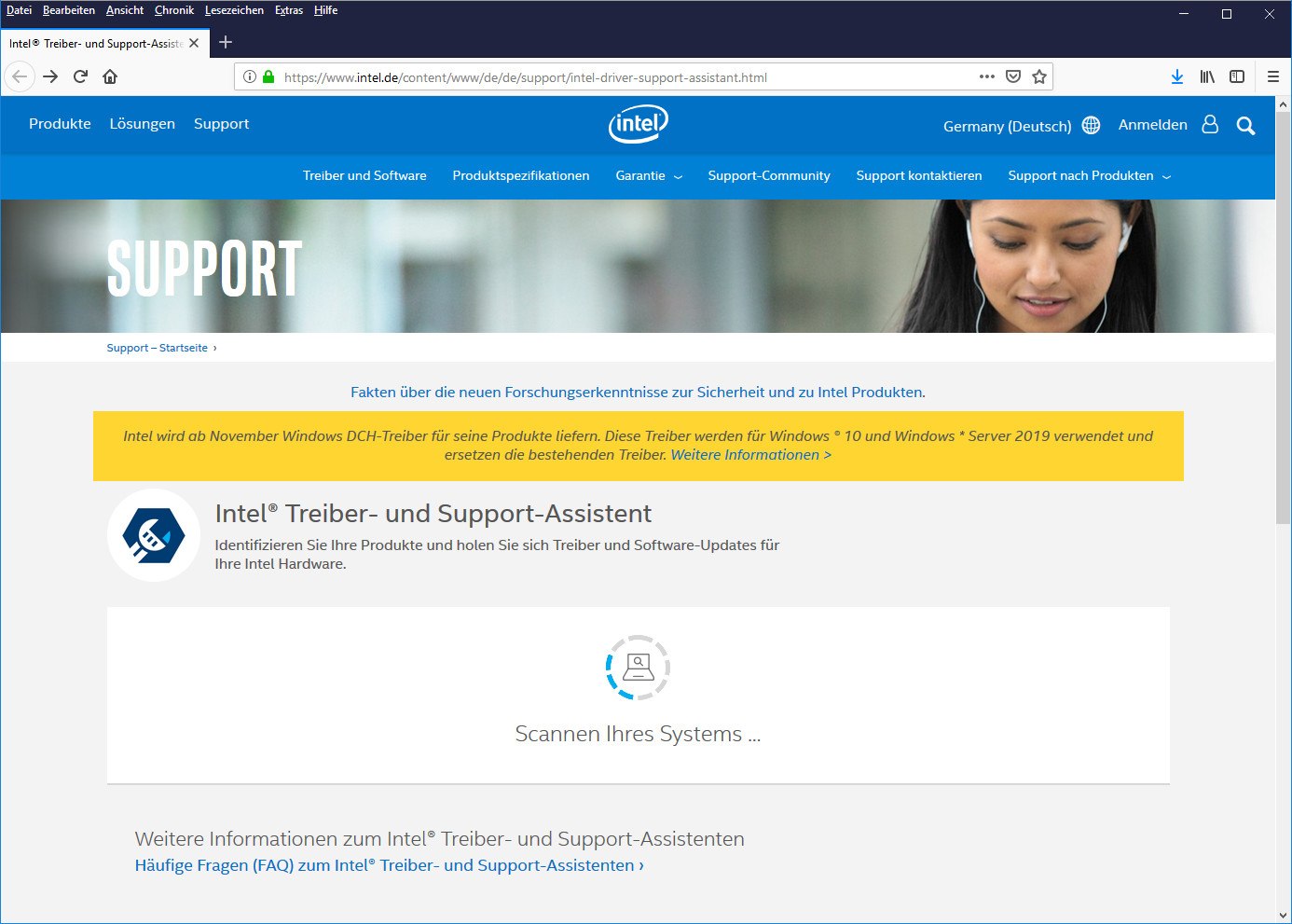 Screenshot 1 - Intel-Treiber-Update-Utility