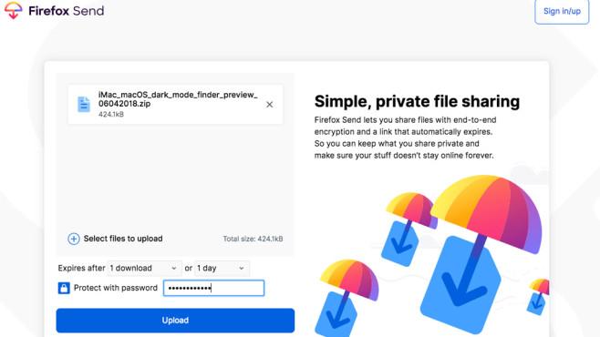 Firefox Send©Mozilla