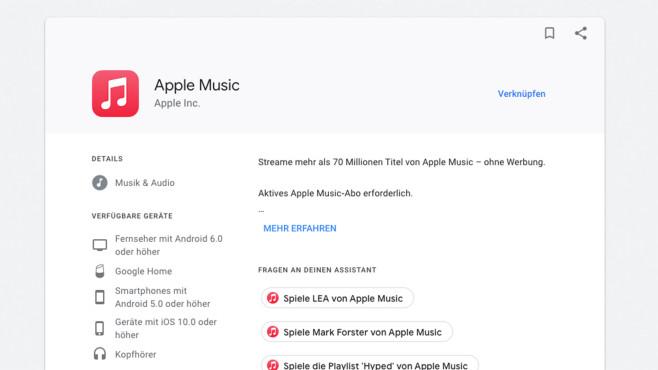 Apple Music ©Google