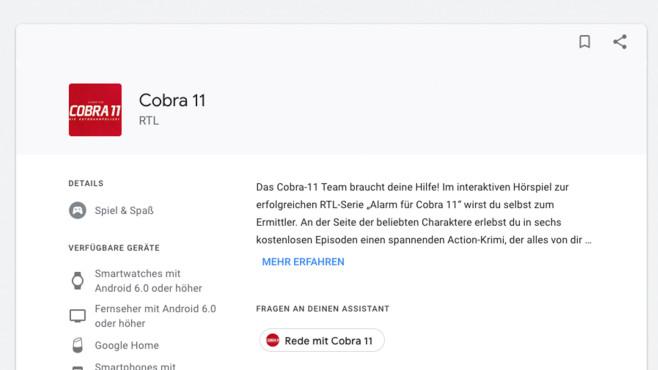 Cobra 11 ©Google