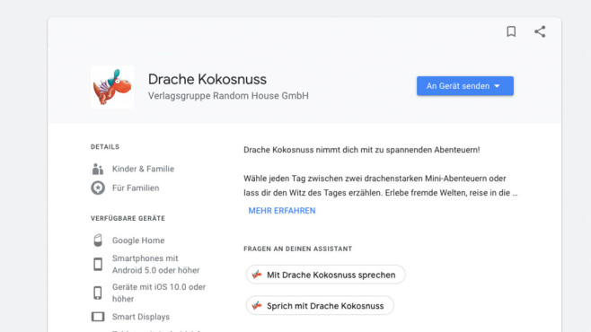 Drache Kokosnuss ©Google