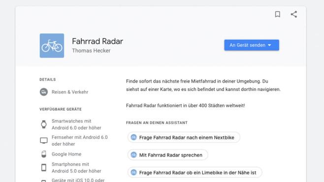 Fahhrad Radar ©Google