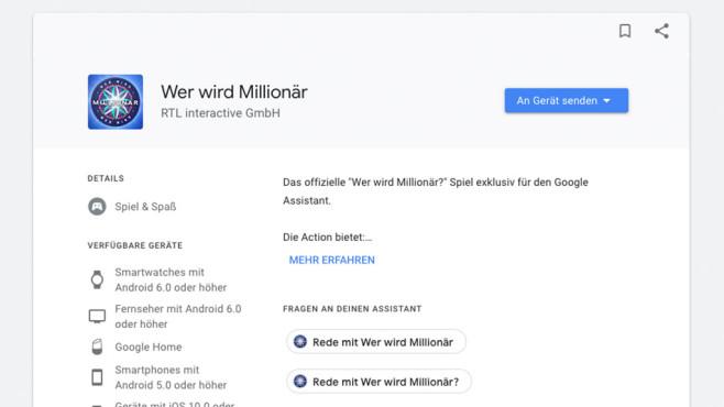 Wer wird Millionär ©Google