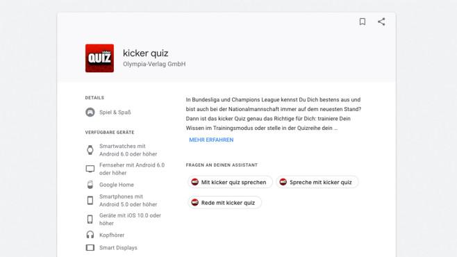 kicker quiz ©Google