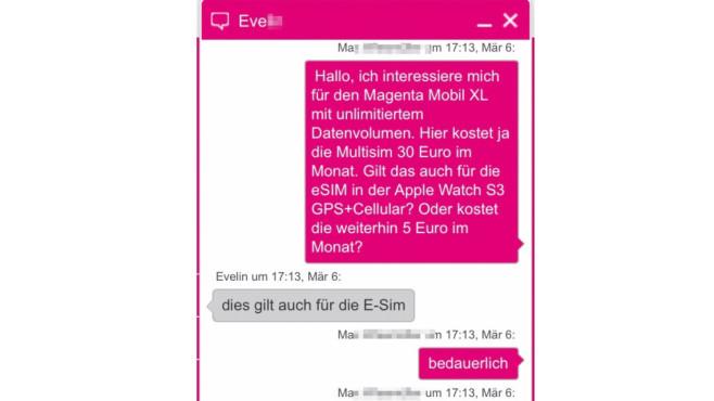 Auch die Apple eSIM kostet 29,95 Euro/Monat©Screenshot: COMPUTER BILD