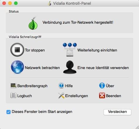 Screenshot 1 - Tor (Vidalia-Bundle) (Mac)