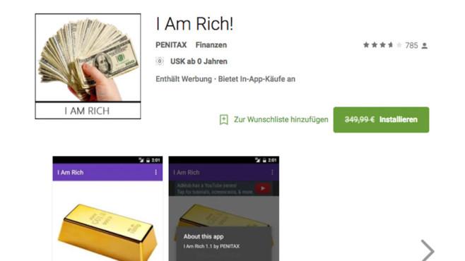 I Am Rich App©Screenshot: Google Play Store