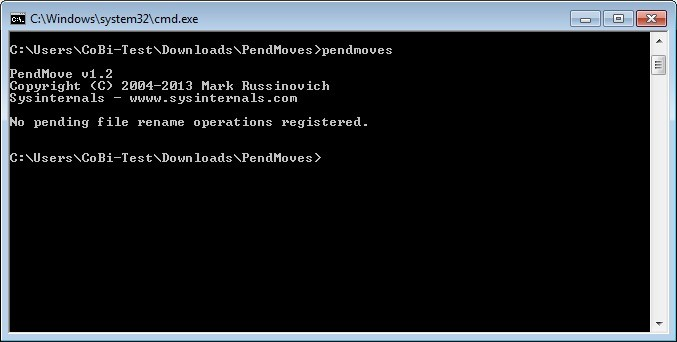 Screenshot 1 - PendMoves and MoveFile