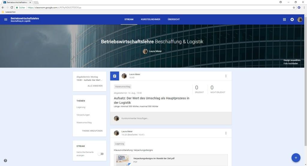 Screenshot 1 - Google Classroom