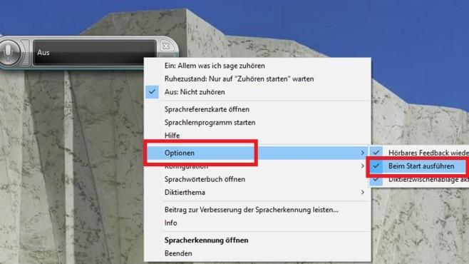 Spracherkennungs-Tool beim Windows-Start laden ©COMPUTER BILD