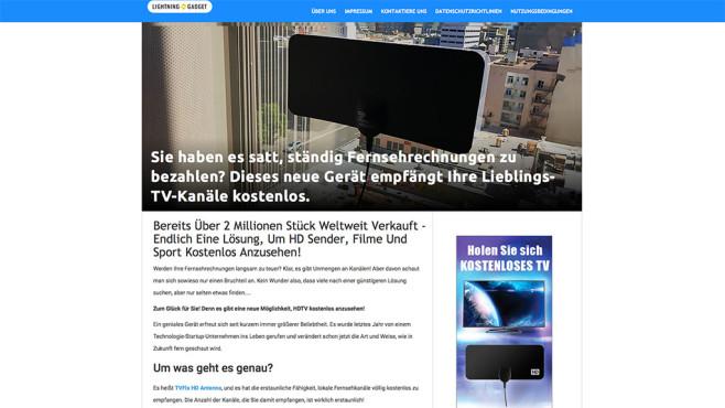 Abzocke mit TV-Antenne©COMPUTER BILD, freeseetv