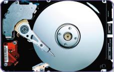 """Hybrid-Festplatten Im Inneren einer Festplatte rotieren eine oder mehrere Scheiben, die sogenannten """"Platter"""". Darauf werden die Daten magnetisch gespeichert."""