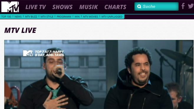 MTV©MTV / Screenshot / http://www.mtv.de/live