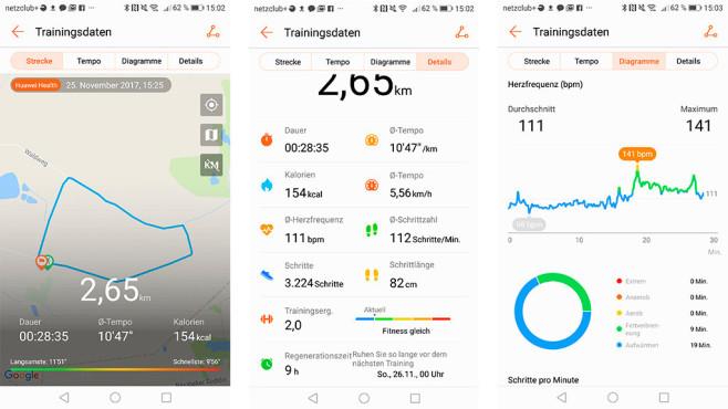 Screenshot Huawei Health App©Screenshot Huawei Health App