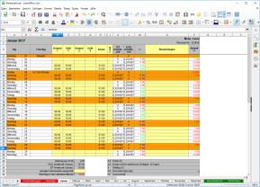 Arbeitszeiterfassung für OpenOffice & LibreOffice