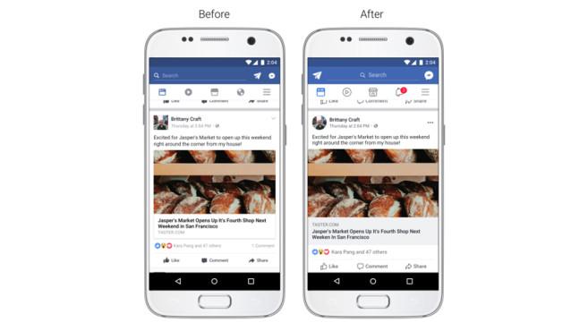 Facebook-App: Design©Facebook