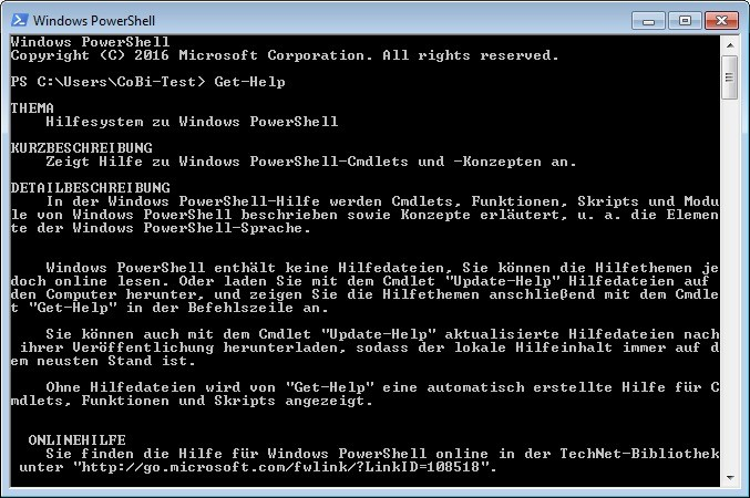 Screenshot 1 - Windows PowerShell (Windows Management Framework)