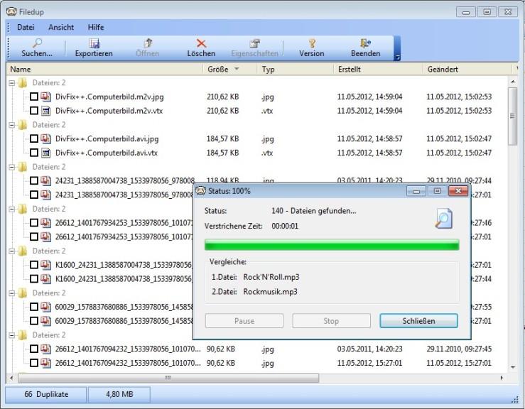 Screenshot 1 - Filedup