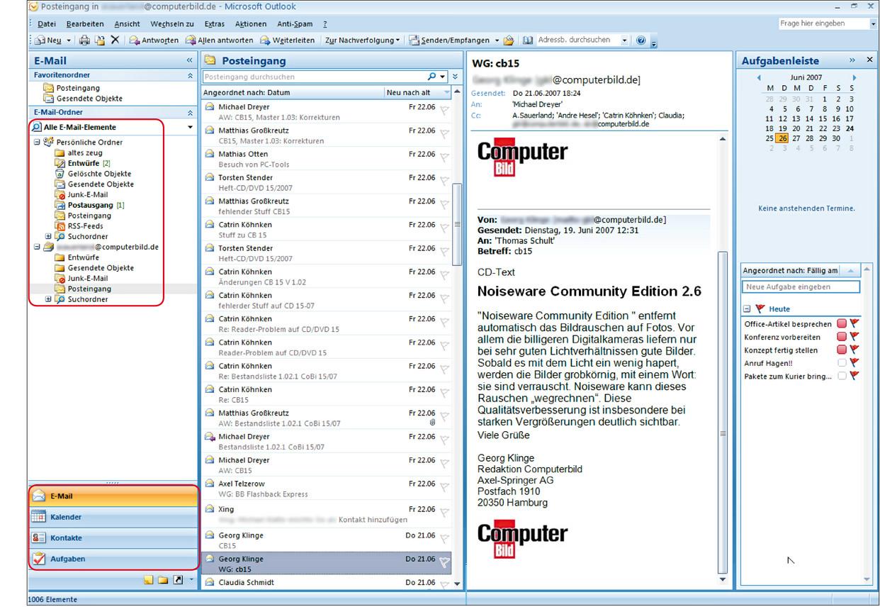 Outlook 2007 Kurs Zum Office Programm Von Microsoft Computer Bild