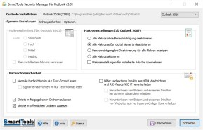 SmartTools Security Manager für Outlook