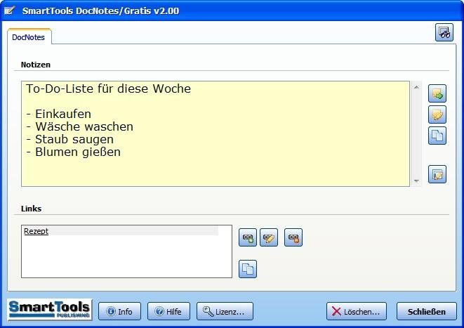 Screenshot 1 - SmartTools DocNotes für Word
