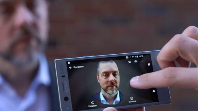 Sony Xperia XZ1: 3D Creator©COMPUTER BILD