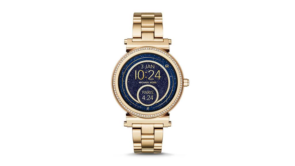 3b76b5a3d57 Michael Kors: Smartwatch Sofie © Fossil Group, Inc. Das Ziffernblatt der ...