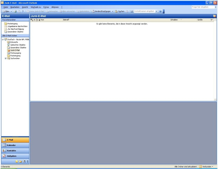 Screenshot 1 - Junk-E-Mail-Filter für Outlook 2003