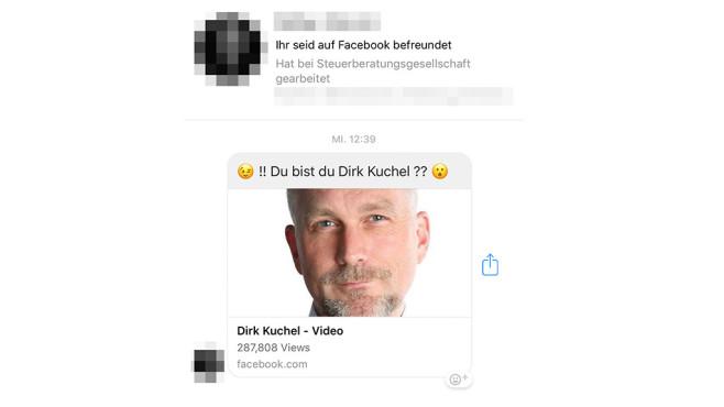 Facebook-Phishing per Messenger©COMPUTER BILD