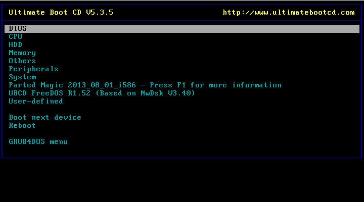 Screenshot 1 - Ultimate Boot CD