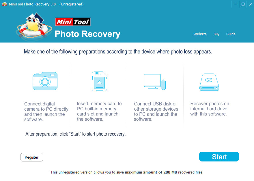 Screenshot 1 - MiniTool Photo Recovery
