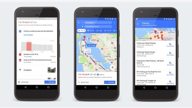 Google Maps als Parkhilfe©Google Maps