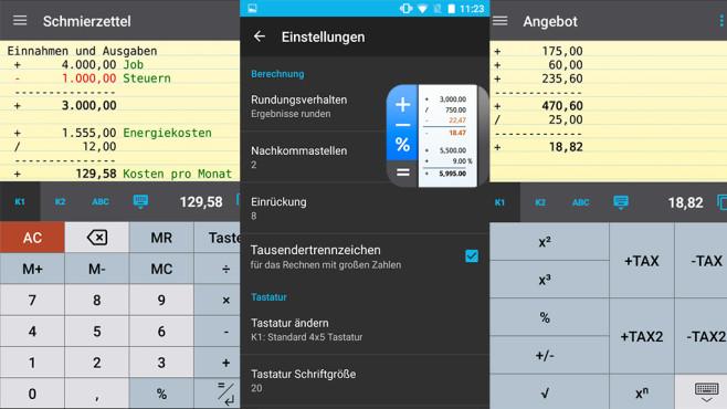 CalcTape Taschenrechner ©schoettler Software GmbH