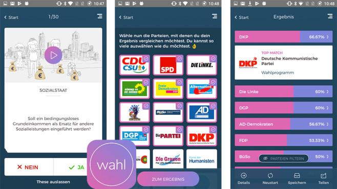 WahlSwiper – Finde deine Partei zur Bundestagswahl ©MOVACT