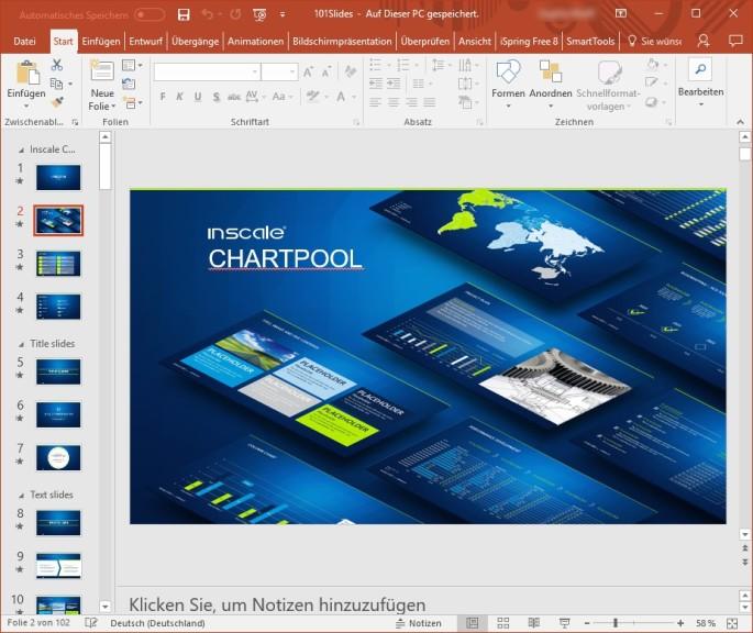 Screenshot 1 - 101 Vorlagen für PowerPoint