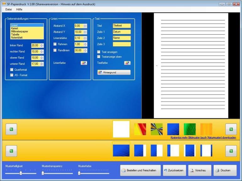 Screenshot 1 - SF-Papierdruck