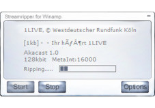 Screenshot 1 - Streamripper