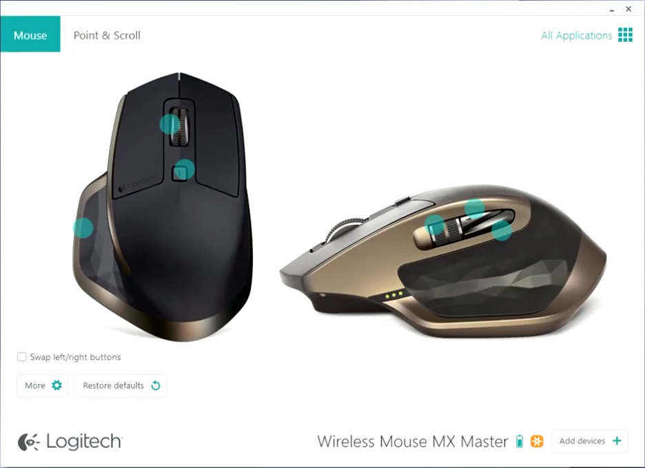 Screenshot 1 - Logitech Options