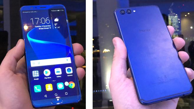 Honor View 10: Neues Top-Smartphone offiziell vorgestellt Vorne großes 18:9-Display, hinten wertiges Aluminium – das View 10 macht eine gute Figur.©COMPUTER BILD
