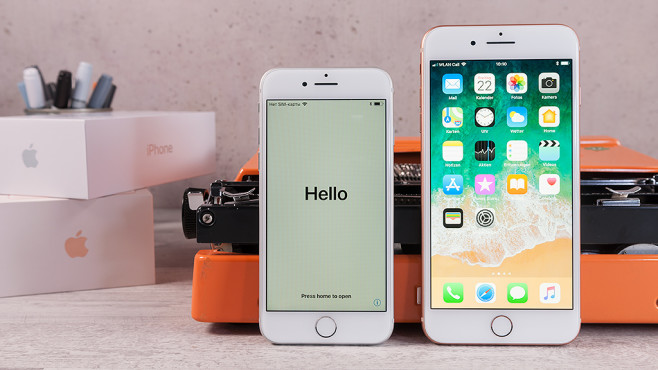 iPhone 8 und iPhone 8 Plus Front ©COMPUTER BILD