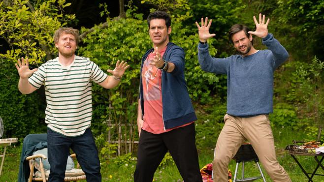 Drei Männer und eine Tanzeinlage: Jochen, Piet und Christian geben alles. ©SAT.1