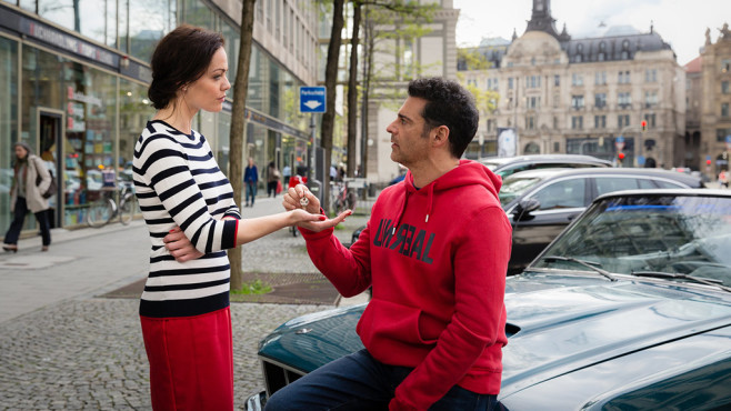Piet und seine Freundin Claudia. ©SAT.1