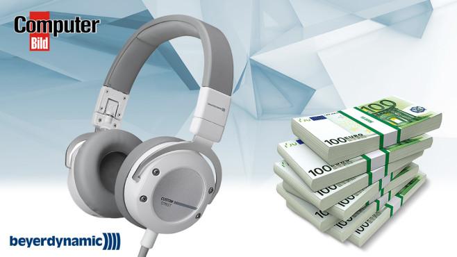 """COMPUTER BILD-Gewinnspiel """"Bei SMS Cash""""©Beyerdynamic, COMPUTER BILD"""