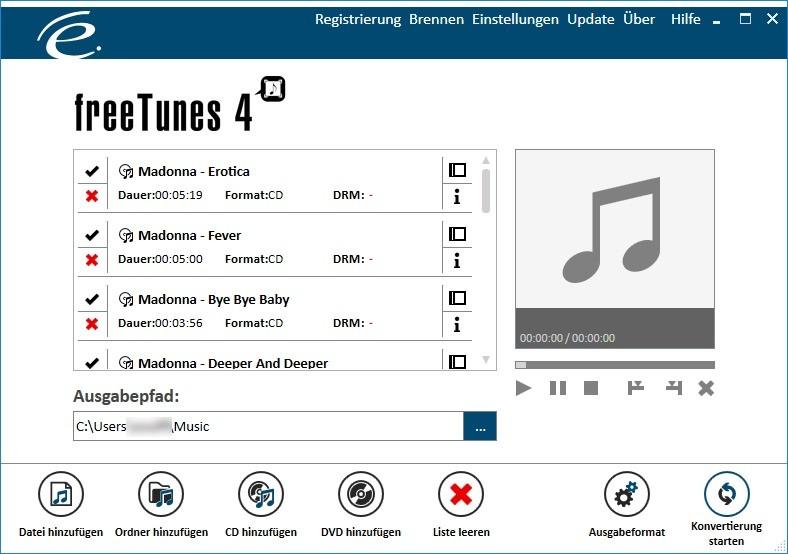 Screenshot 1 - freeTunes 4 – Kostenlose Vollversion
