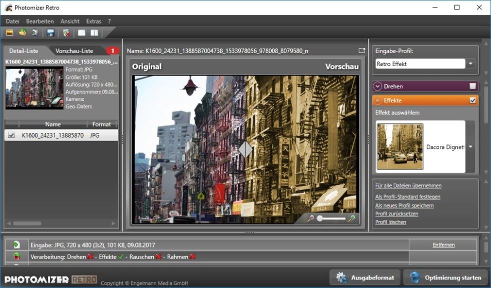 Screenshot 1 - Photomizer Retro – Kostenlose Vollversion