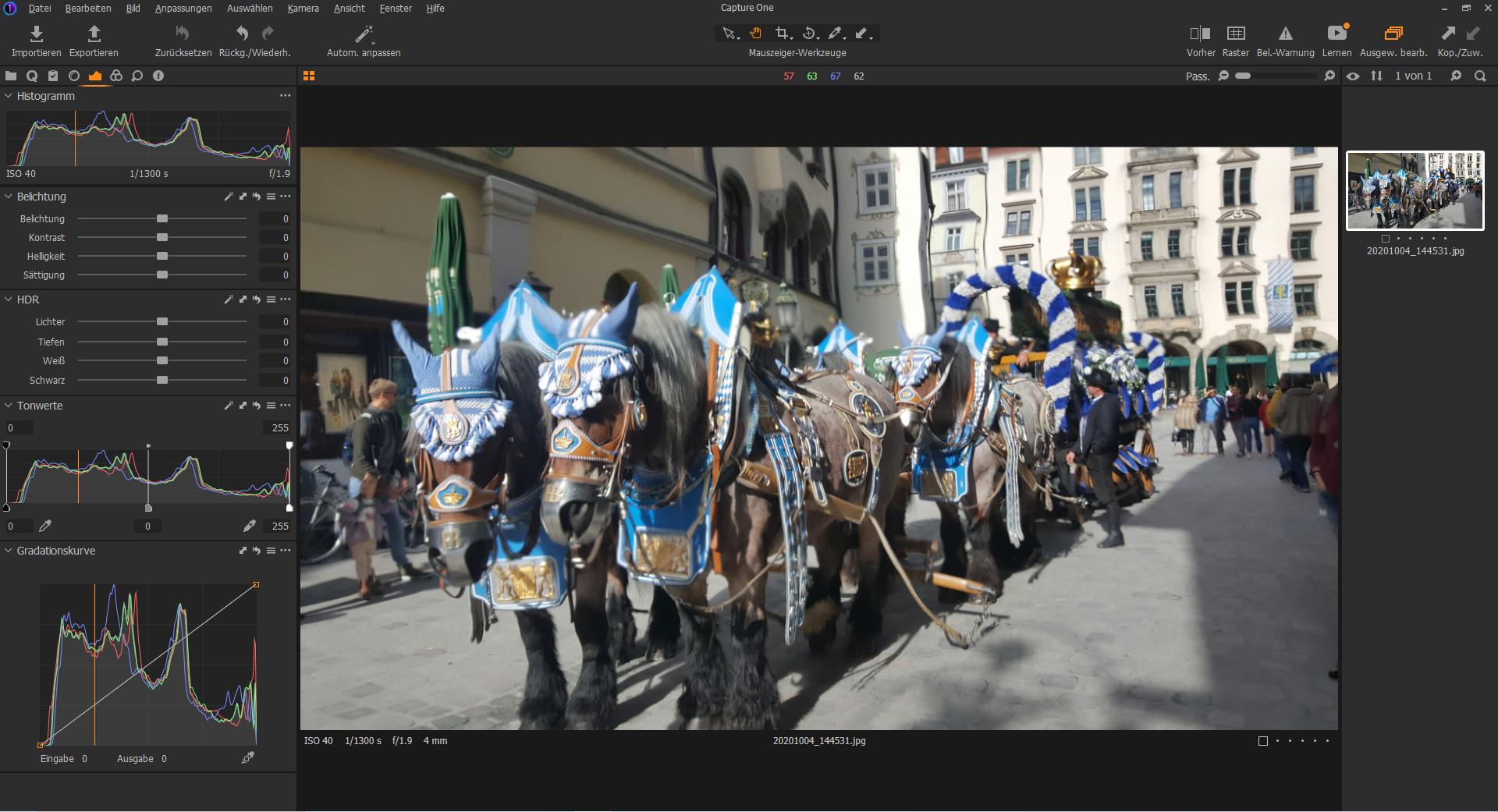 Screenshot 1 - Capture One Express für Sony-Kameras